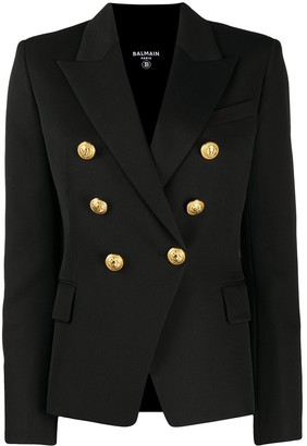 Balmain Double-Breasted Structured Blazer
