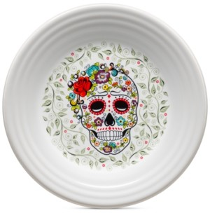 Fiesta Skull and Vine Sugar Lunch Plate