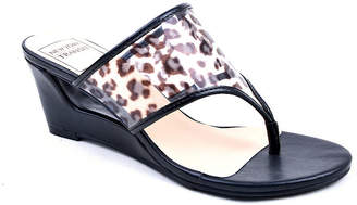 clear New York Transit Womens Fun Wedge Sandals