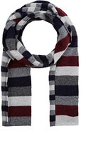 Drakes Drake's DRAKE'S MEN'S STRIPED WOOL SCARF