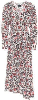 Isabel Marant Blaine floral stretch-silk dress