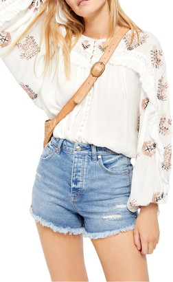Free People Sweet Emotion Embroidered Blouse