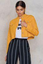 Raw Hem Short Denim Jacket