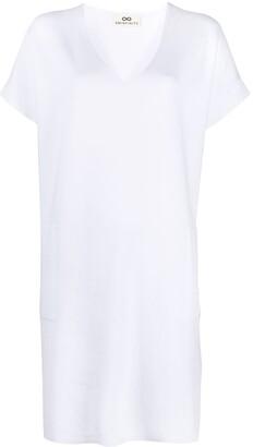 Sminfinity V-neck cotton short dress
