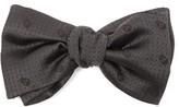 Alexander McQueen Skull Silk-jacquard Bow Tie - Mens - Black