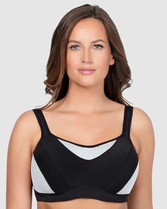 Parfait Women's Black Sports Bras - Dynamic Underwired Sports Bra - Size One Size, 10DD at The Iconic