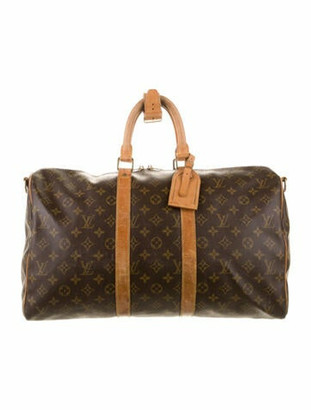 Louis Vuitton Vintage Monogram Keepall Bandouliere 60 Brown