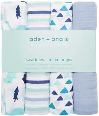 Aden Anais aden by aden + anais Baby & Toddler Boys 4-Pk. Essentials Cotton Swaddles