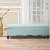 Home Loft Concepts Stipe Storage Bench Entryway Bench Upholstery