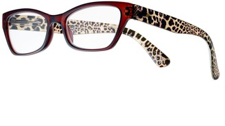 Foster Grant Women's Modera by Marcia Leopard Cat-Eye Reading Glasses