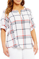 Westbound Plus Roll Sleeve Tunic