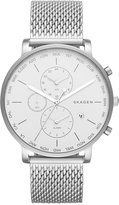 Skagen Men's Hagen World Time Stainless Steel Mesh Bracelet Watch 42mm SKW6301