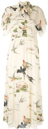 RED Valentino Swallow Print Dress