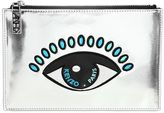 Kenzo Small Eye Metallic Faux Leather Pouch