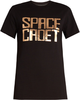 House of Holland Space Cadet foil-print oversized T-shirt