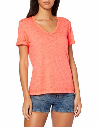 Superdry Women's Burnout Vee Tee T-Shirt Short Sleeve T-Shirt