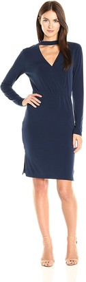 BCBGeneration Women's Long Sleeve Surplice Dress
