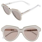 Karen Walker Women's 'One Astronaut - Arrowed By Karen' 49Mm Sunglasses - Crystal Clear/ Gold