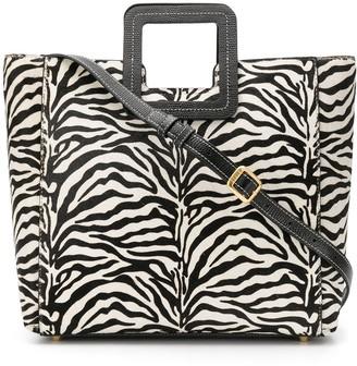 STAUD Shirley zebra-print tote bag