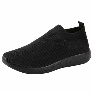 TEELONG Women Outdoor Mesh Shoes Casual Slip On Comfortable Soles Running Sports Shoes Size 3-7 (4 UK