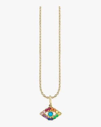 Sydney Evan Rainbow Evil Eye Charm Necklace