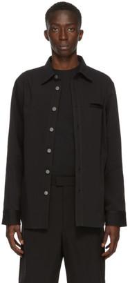 Bottega Veneta Black Canvas Shirt