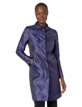 Anne Klein Women's Peterpan Collar Topper Coat