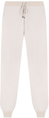 Johnstons of Elgin Josephine Low Rise Cashmere Joggers Snow