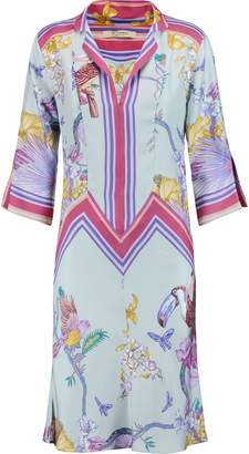 Etro Printed Silk Crepe De Chine Dress