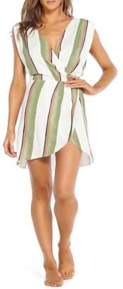 Vix Stripe Faux Wrap Caftan