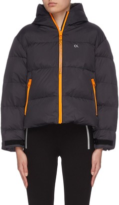 Calvin Klein 'Space gear' contrast panel padded jacket