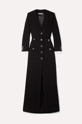 Alessandra Rich Taffeta-trimmed Wool-blend Boucle Maxi Dress - Black