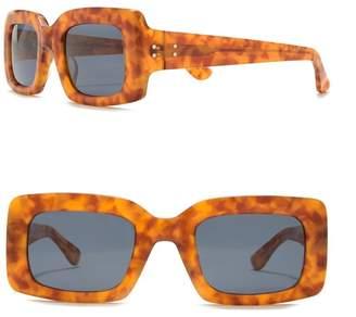 Raen Flatscreen 46mm Square Sunglasses