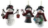 St. Nicholas Square® Snowman Christmas Ornament 3-piece Set