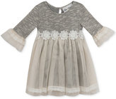 Rare Editions Mesh-Skirt Sweater Dress, Baby Girls (0-24 months)