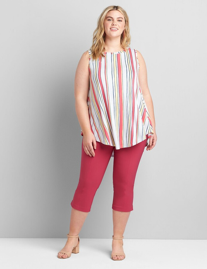 Thumbnail for your product : Lane Bryant Sleeveless Boat-Neck Max Swing Tunic