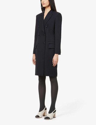 Max Mara Zucca double-breasted wool midi dress