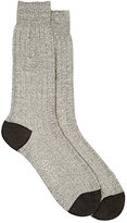 Barneys New York Men's Ribbed Mid-Calf Socks-LIGHT GREY