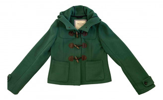 Abercrombie & Fitch Green Wool Coats