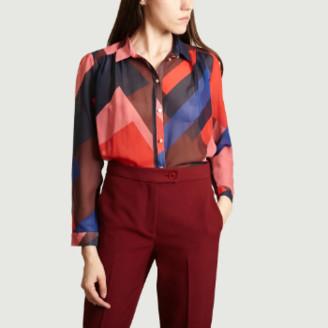 Suncoo Geranium Polyester Loika Shirt - 1 | polyester | Geranium