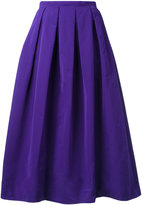 Rochas pleat detail full skirt - women - Silk/Cotton/Polyester - 38