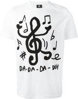 Paul Smith music notes print T-shirt - men - Organic Cotton - XL