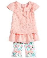Nannette 2-Pc. Layered-Look Flower Tunic & Capri Leggings Set, Baby Girls (0-24 months)