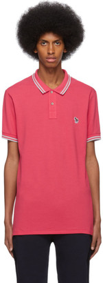 Paul Smith Red and Grey Zebra Polo