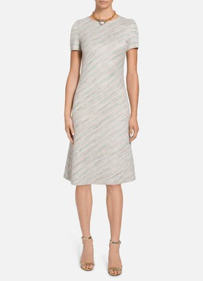 St. John Ombre Taped Inlay Knit Dress