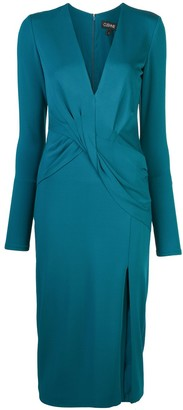 Cushnie Deep V-Neck Long Sleeved Dress