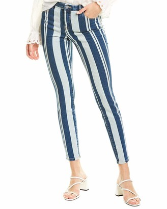 Blank NYC Women's Mid Rise Stripe Printed Denim Skinny Jeans - - 27