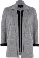 River Island Womens Light grey contrast cuff jersey jacket