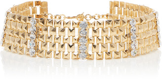 Alessandra Rich Gold-Tone And Crystal Choker