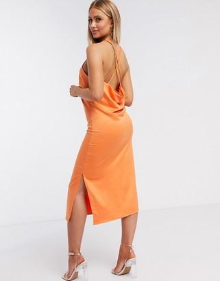 4th & Reckless slip cami dress in rust